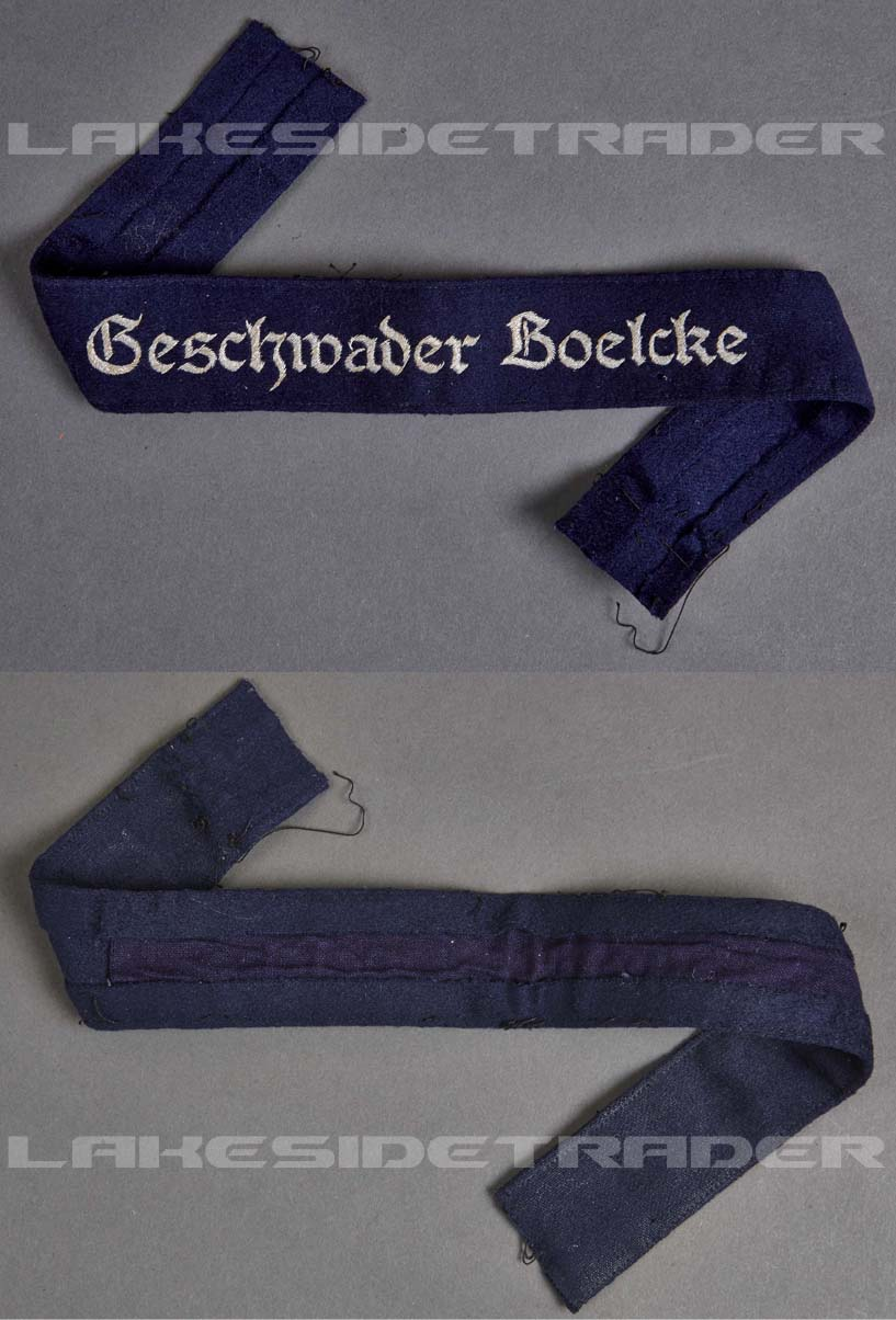 "Luftwaffe Officers ""Geschwader Boelcke"" Cufftitle"