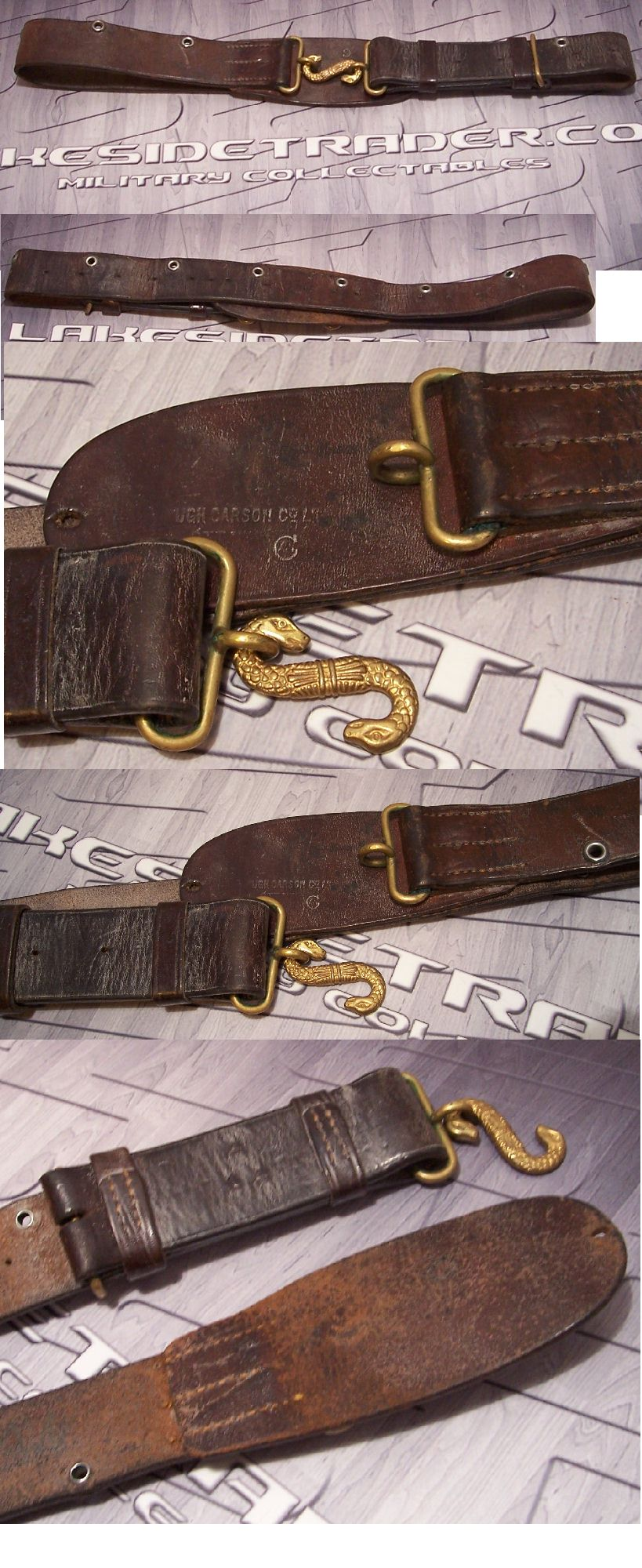 Canadian WWI Issue Snake Clasp  Belt