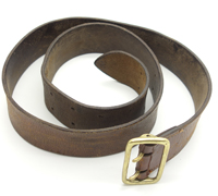 Early Political Leaders Belt and Buckle