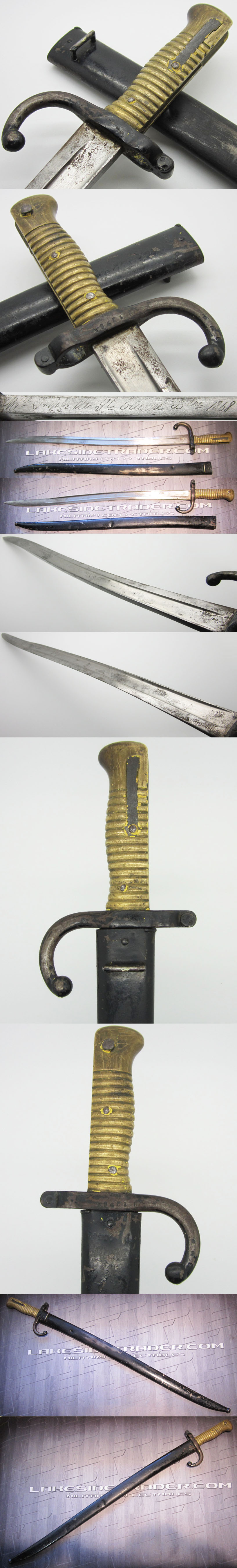 French Mle. 1873 Chassepot Sword Bayonet