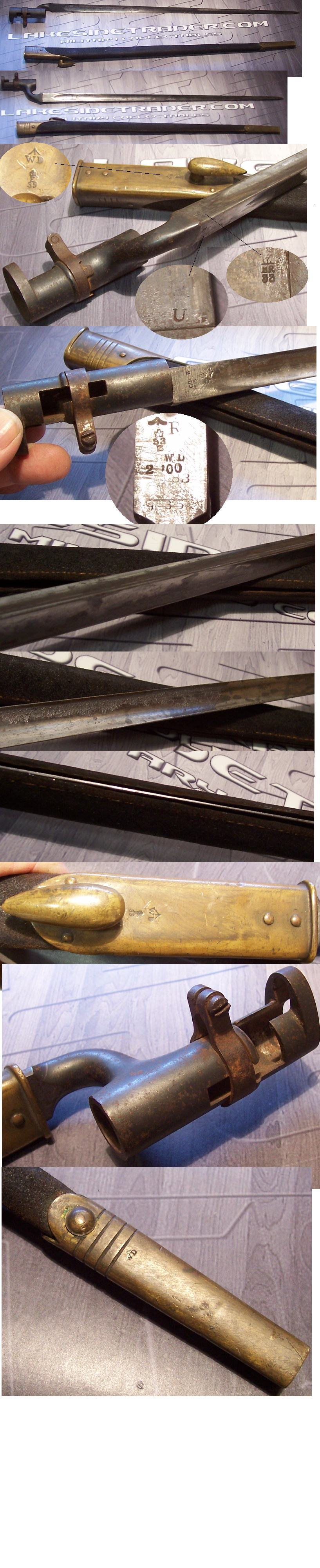 Pattern 1895 Martini-Henry Socket Bayonet