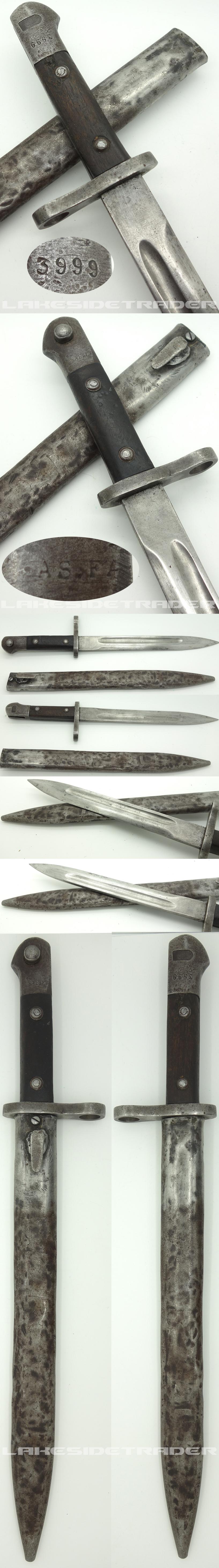Turkish M35 Bayonet by Askari Fabrika