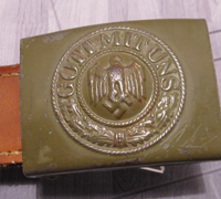 Tabbed Tropical Army Belt Buckle by R.S.S. 1940