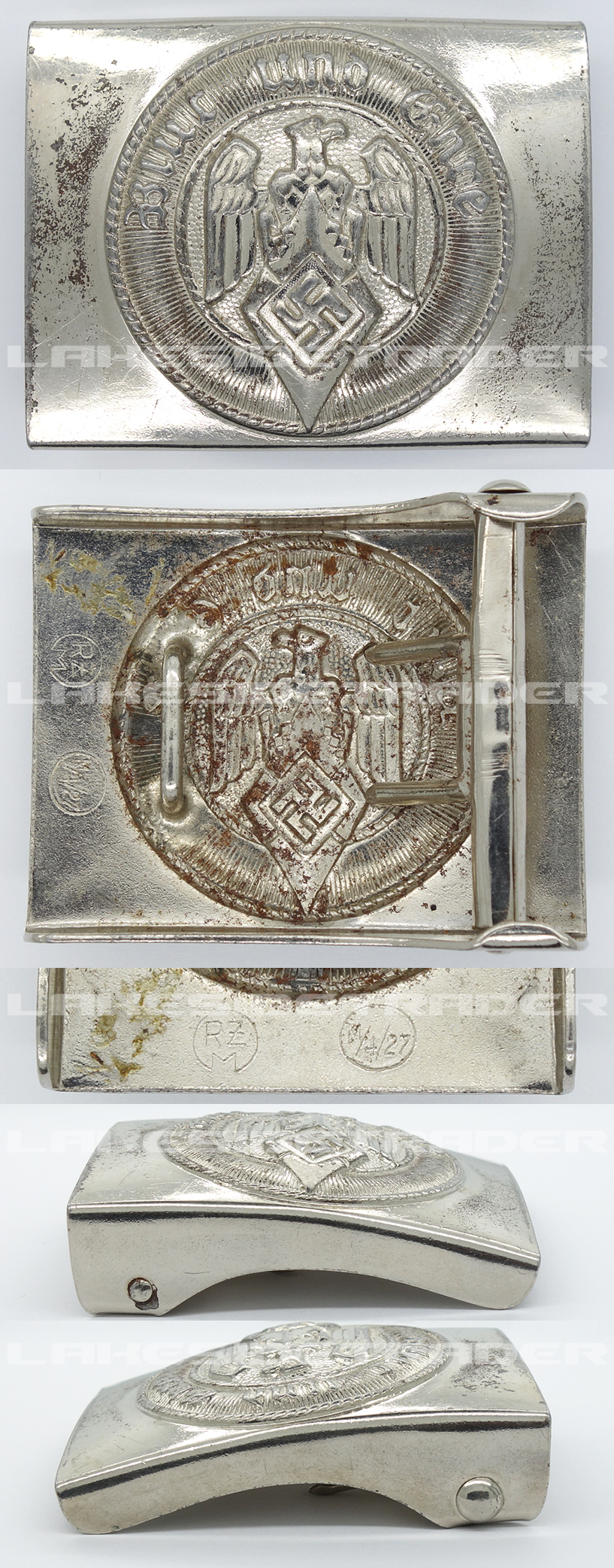 Hitler Youth Belt Buckle by RZM M4/27