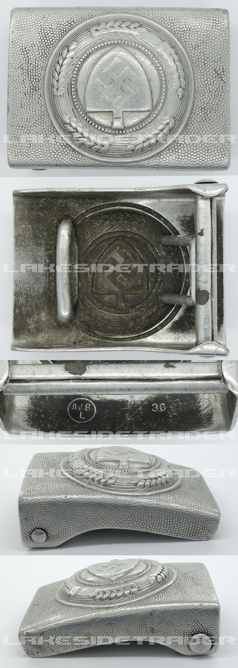 RAD EM/NCO Belt Buckle by Ad. B 1936
