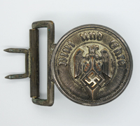 Hitler Youth Officers Brocade Belt Buckle by RZM M4/22