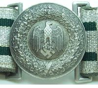 Army Officer Buckle and Brocade Belt