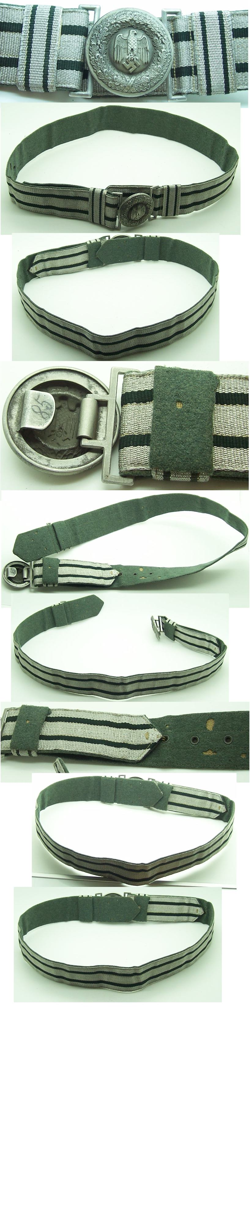 Officer Army Buckle and Brocade Belt