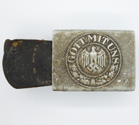 Tabbed Army Belt Buckle by R. S. & S 1940