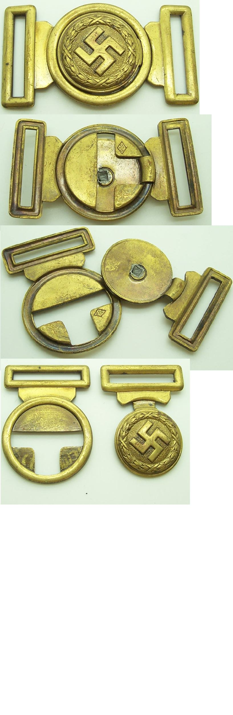 Early Nazi Sympathizer Buckle by Overhoff & Cie