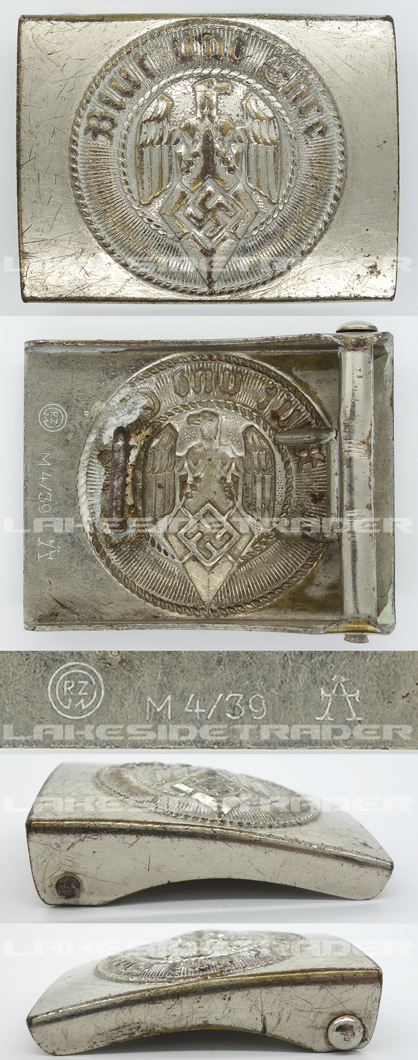 Hitler Youth Belt Buckle by RZM M4/39