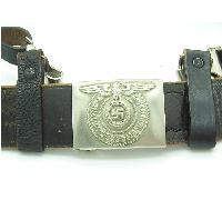 SS EM/NCO Belt, Buckle and Cross-strap