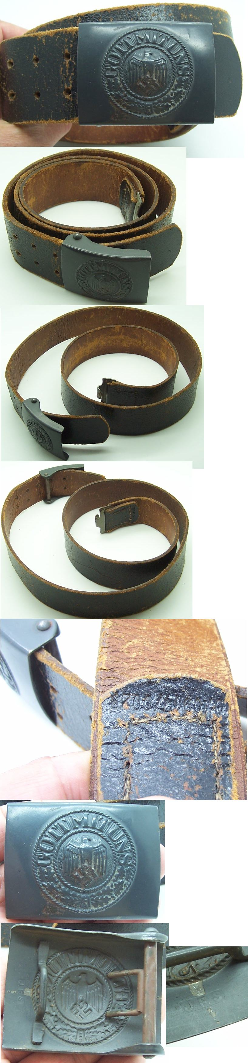 Costal Artillery Belt & Buckle by JFS