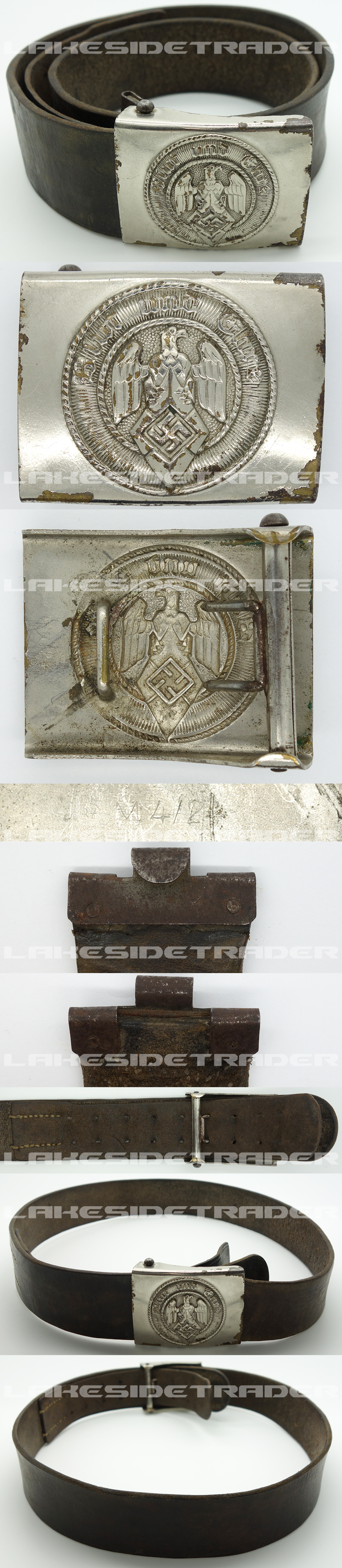 Hitler Youth Belt and Buckle by RZM M4/24