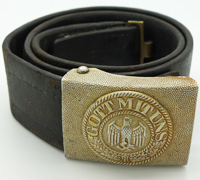 Army EM/NCO Belt and Buckle by Overhoff & Cie.