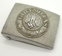 Early Aluminium Army Belt Buckle by Schroder