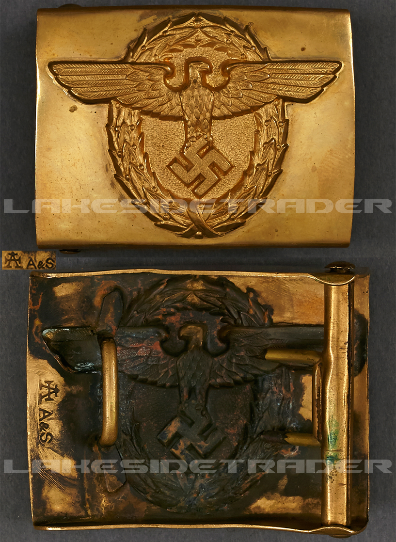 Gold Rural Police (Landpolizei) Belt Buckle