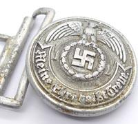 SS Officers Brocade Belt Buckle by Overhoff 1938