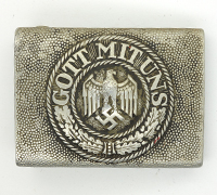 Early Aluminium Army Belt Buckle by F.K.O.