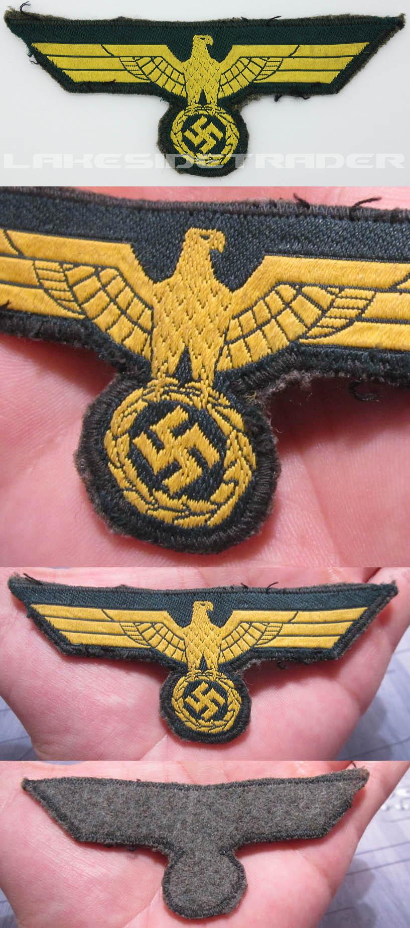Uniform Removed Costal Artillery Breast Eagle