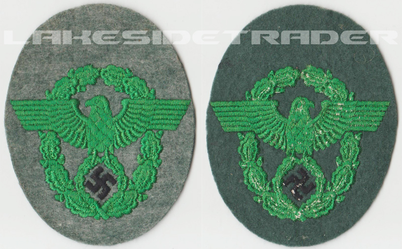 Truppenfarbe Police Sleeve Eagle