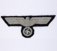 Army Panzer Officer Bullion Breast Eagle