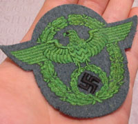 Truppenfarbe Police Sleeve Eagle