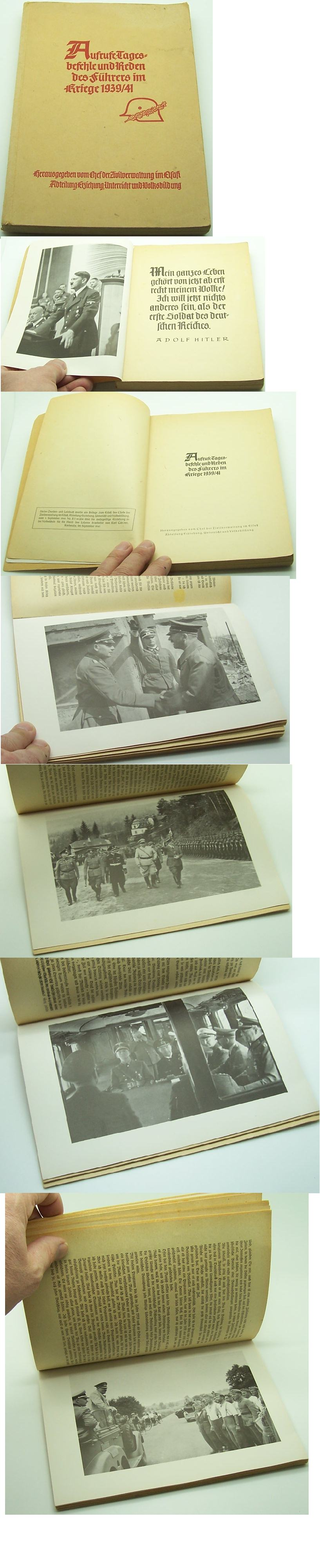 Views, orders and speeches of the Hitler in the war 1939/41