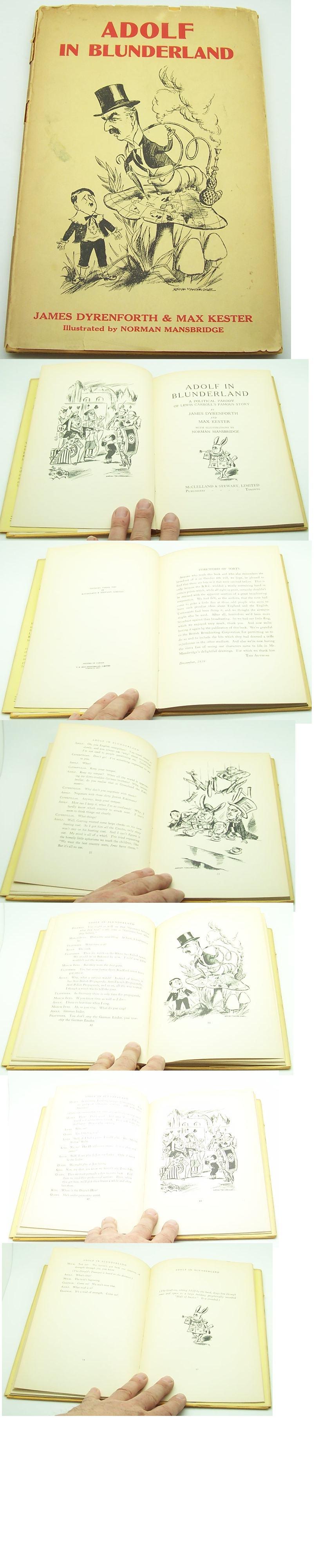 Anti German propaganda WW2 Adolf in Blunderland book