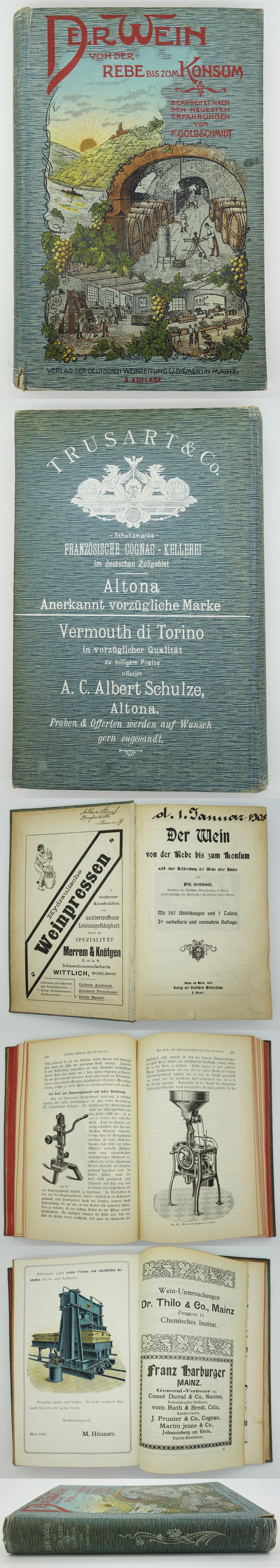 Der Wein von der Rebe bis zum Konsum 1909