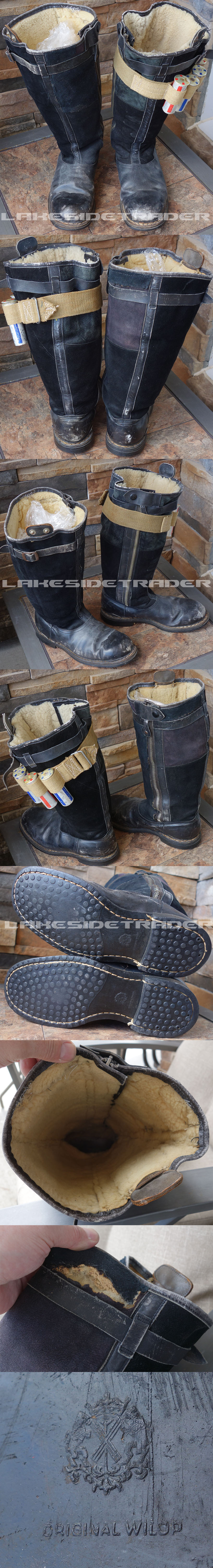 Luftwaffe Electric Heated Leather Flight Boots