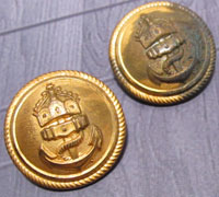 Two Imperial Navy Uniform Buttons