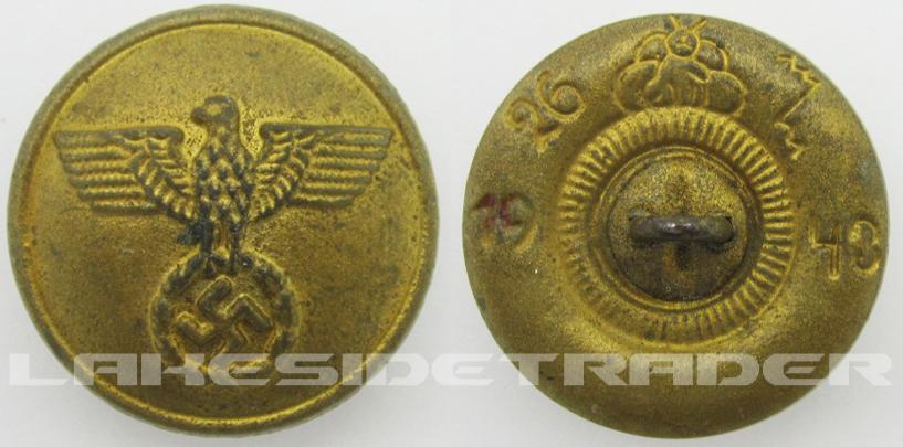 NSDAP Political Button 1943