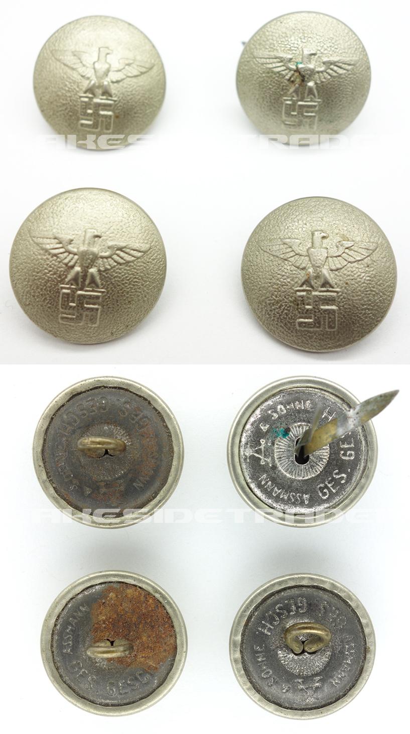 NSDAP Political Uniform Buttons by Assmann
