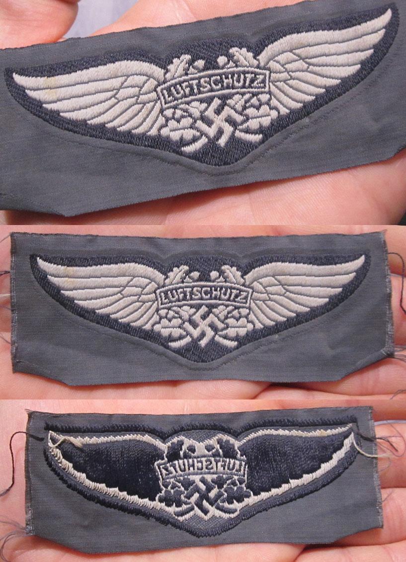 Luftschutz Cap Badge