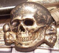 SS Officer's Cap Skull Badge