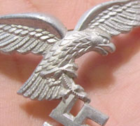 Early Luftwaffe Visor Eagle