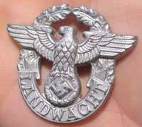 Rural Landwacht Police Cap Badge Pin