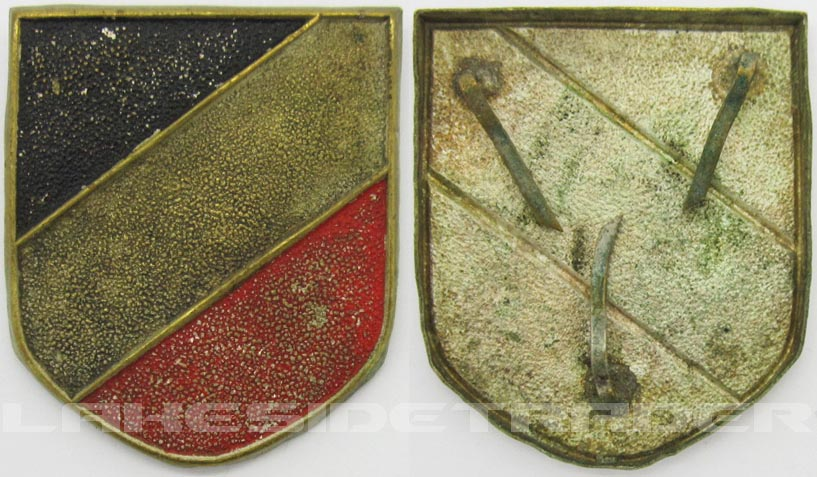 Early Pith Helmet Tri-Color Shield