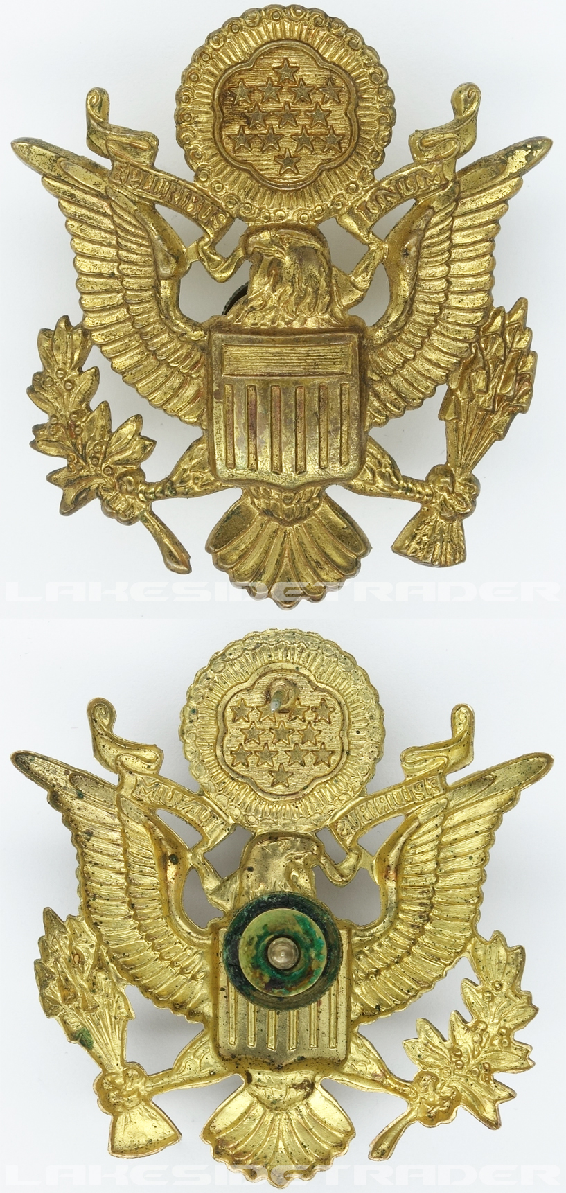 US Army Officer Visor Cap Badge