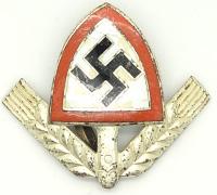 RAD Officer Cap Badge in Enamel