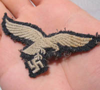 Cap Removed Luftwaffe EM/NCO Cap Eagle