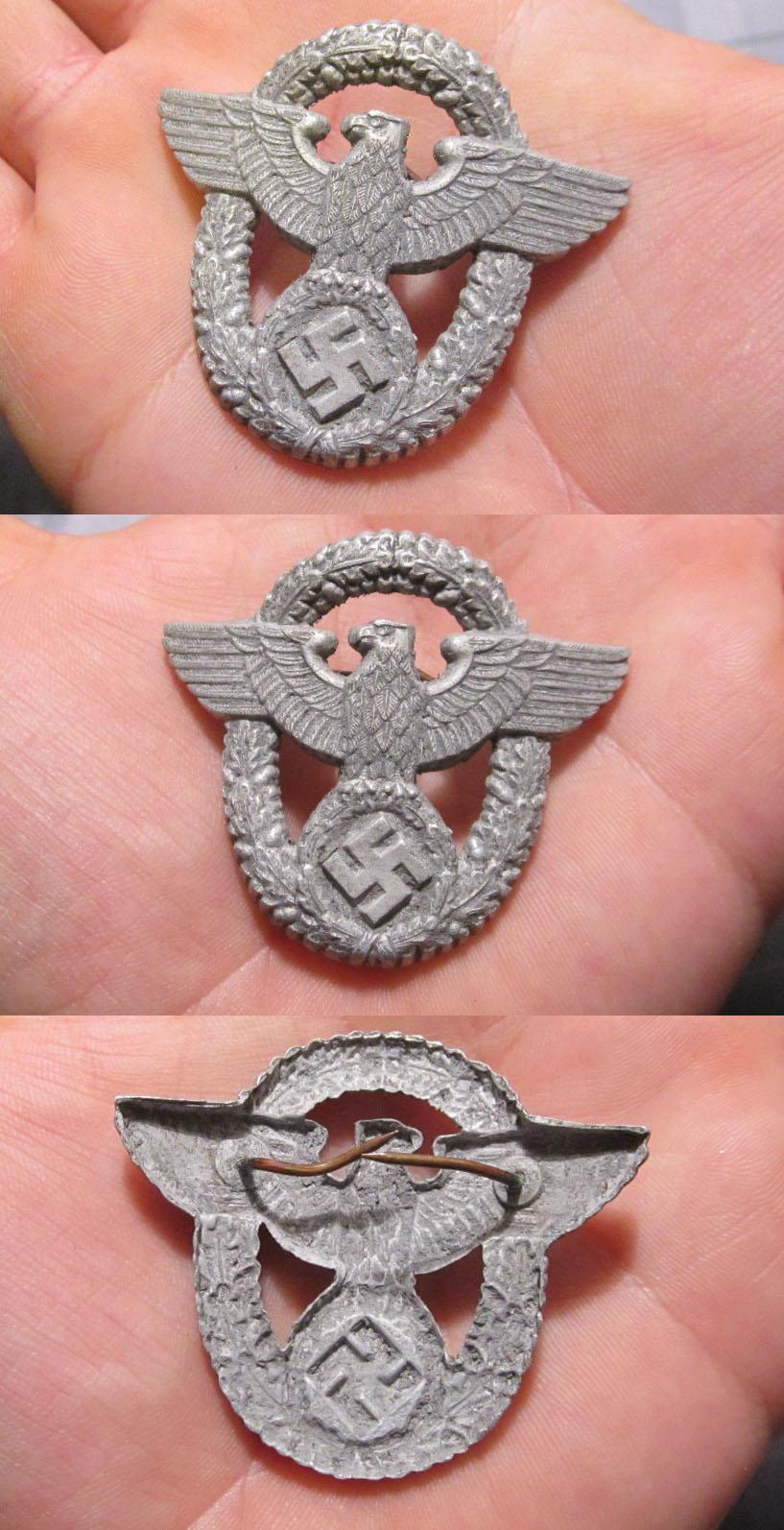 Police 2nd Pattern Visor Cap Eagle