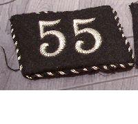 Allgemeine SS 55 Regiment Officer collar tab
