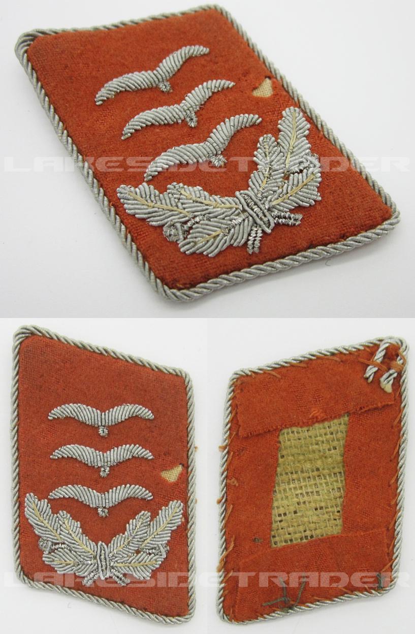 Luftwaffe Signals Hauptmann's Collar Tab