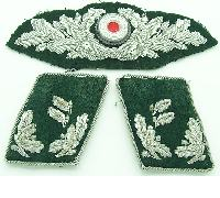 Forestry Official's Wreath cockage and Collar tabs in Bullion