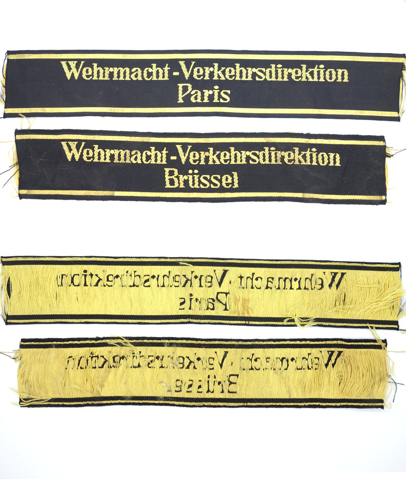 2 Railway Wehrmacht-Verhkerdirektion Cuff-Titles