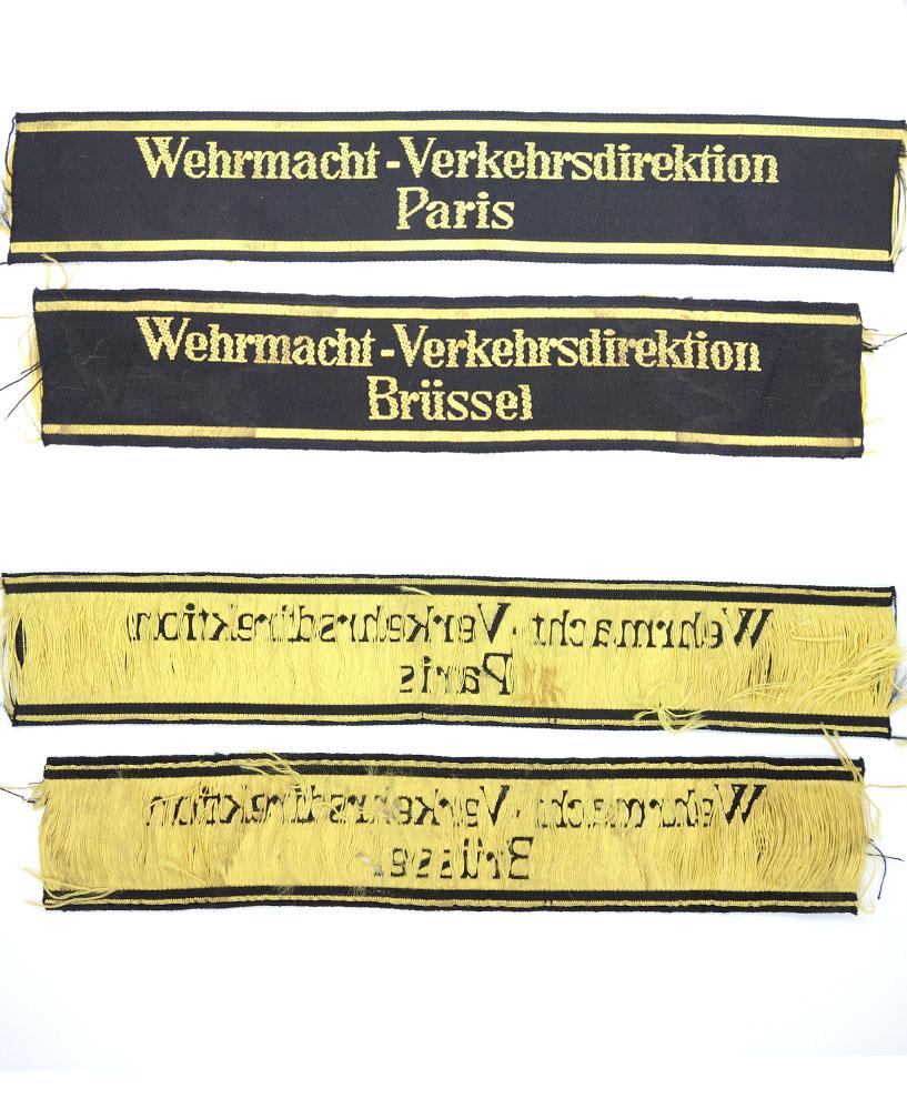 2 Railway Wehrmacht-Verhkerdirektion Cuff-Titles