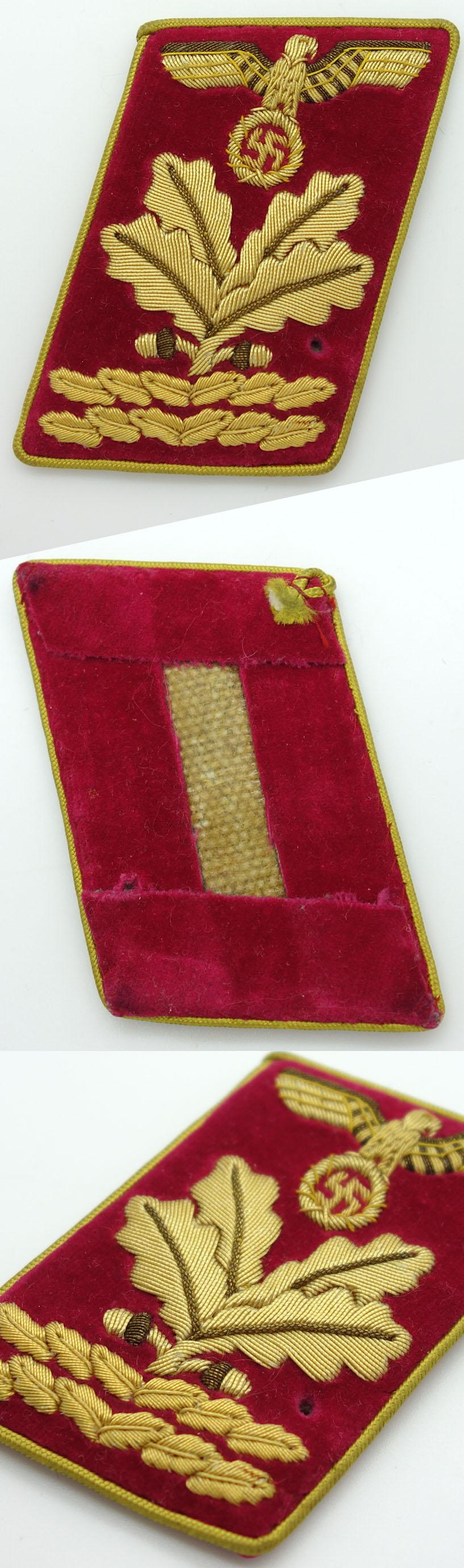 NSDAP Reich level Hauptbefehlsleiter Collar Tab