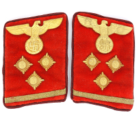 Tagged - NSDAP Gau Level OberEinsatzLeiter Collar Tabs